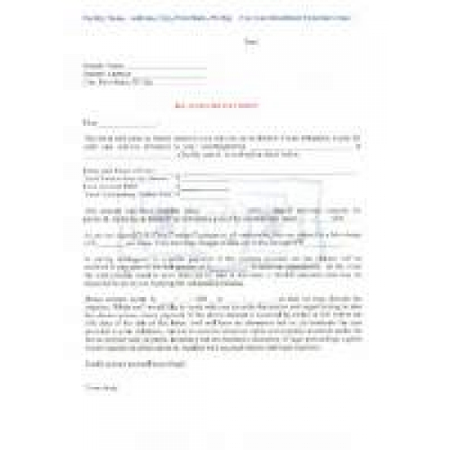 Demand Letter For Past Due Fees